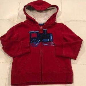 Jumping Beans Red Train Hoodie Sweatshirt w Hood